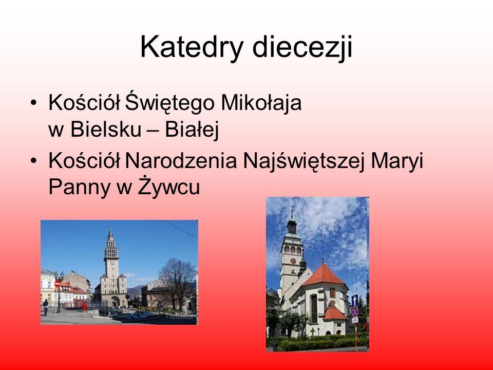 Katedry diecezji Kościół Świętego Mikołaja w Bielsku – Białej Kościół Narodzenia Najświętszej Maryi Panny w Żywcu