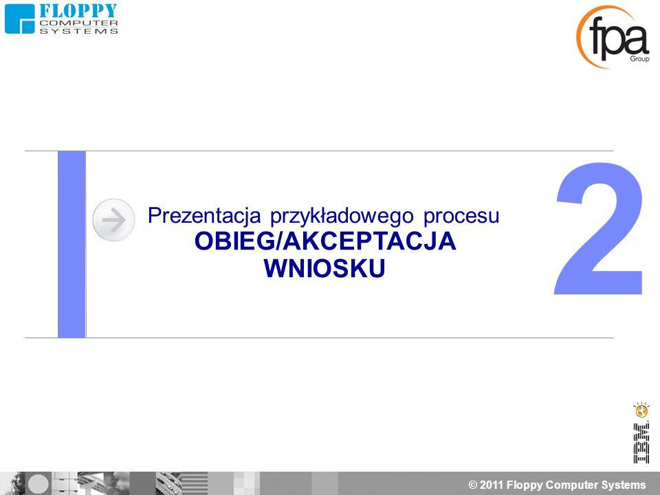 © 2011 Floppy Computer Systems Prezentacja przykładowego procesu OBIEG/AKCEPTACJA WNIOSKU 2