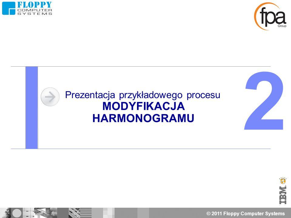 © 2011 Floppy Computer Systems Prezentacja przykładowego procesu MODYFIKACJA HARMONOGRAMU 2
