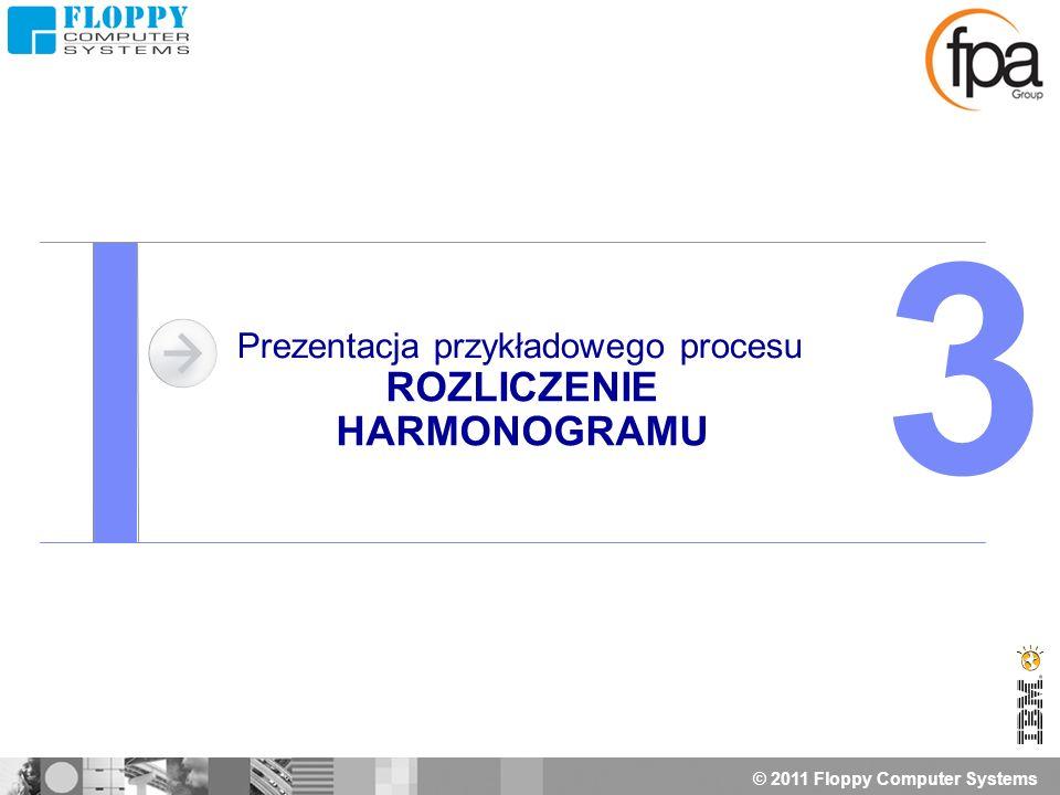 © 2011 Floppy Computer Systems Prezentacja przykładowego procesu ROZLICZENIE HARMONOGRAMU 3