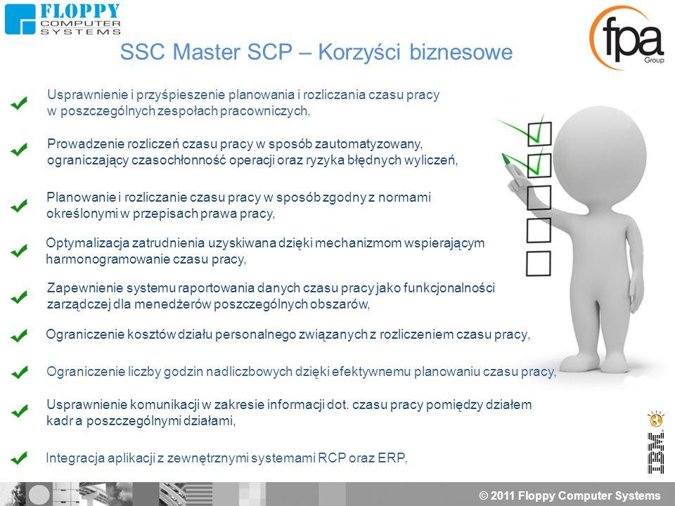 © 2011 Floppy Computer Systems Usprawnienie i przyśpieszenie planowania i rozliczania czasu pracy w poszczególnych zespołach pracowniczych, Prowadzeni
