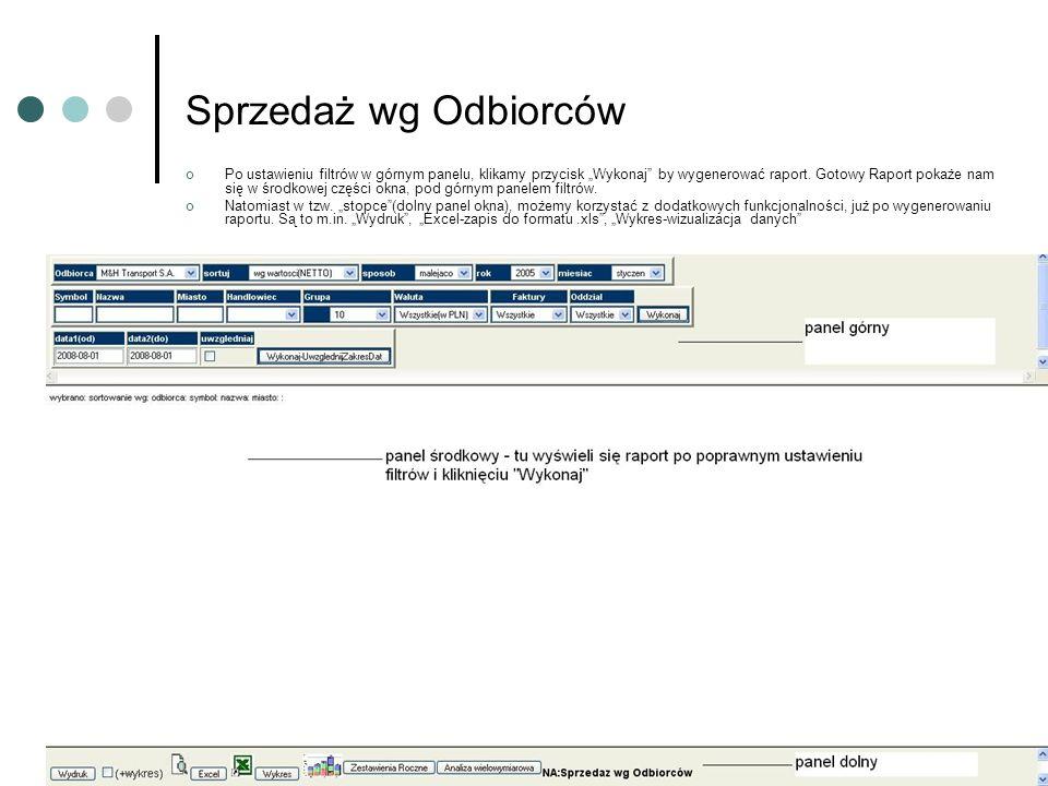 Omówienie Filtrów – Filtr Odbiorca Omawiany Filtr – Odbiorca, pozwala na wybranie konkretnego odbiorcy z listy.