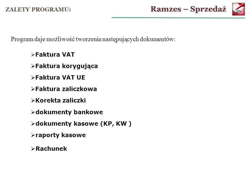 Ramzes – Sprzedaż OPERACJE KASOWE: dodanie i wydruk raportu kasowego: