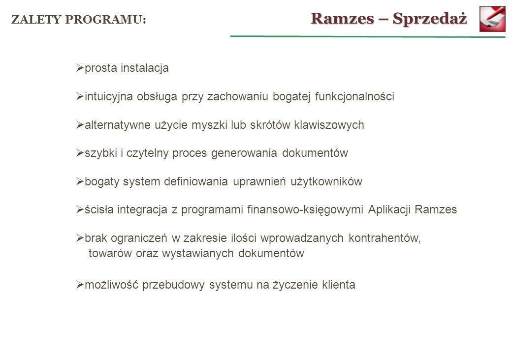 Aktywacja programu: Ramzes – Administrator KONFIGURACJA: