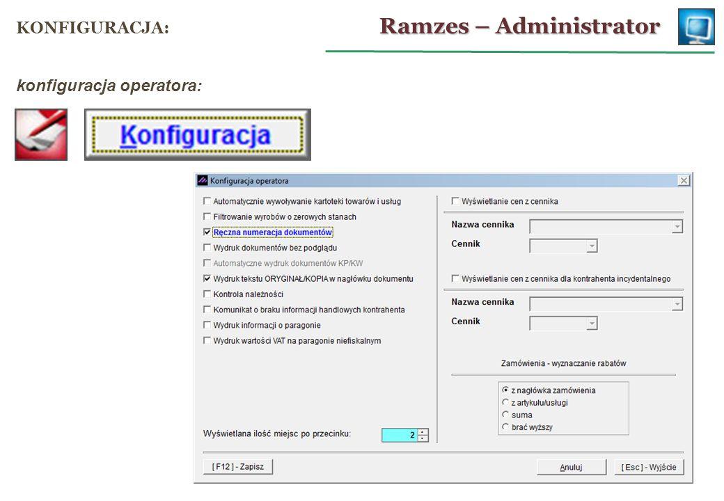 Ramzes – Sprzedaż FAKTURA VAT UE: wybór kontrahenta z NIP-UE: