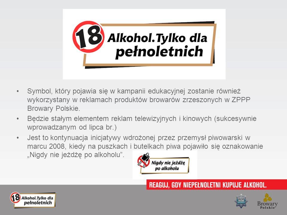 Symbol, który pojawia się w kampanii edukacyjnej zostanie również wykorzystany w reklamach produktów browarów zrzeszonych w ZPPP Browary Polskie. Będz