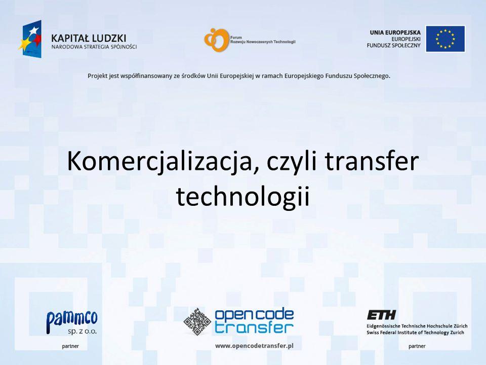 Komercjalizacja, czyli transfer technologii