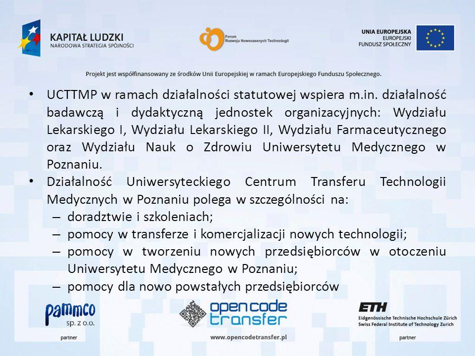UCTTMP w ramach działalności statutowej wspiera m.in. działalność badawczą i dydaktyczną jednostek organizacyjnych: Wydziału Lekarskiego I, Wydziału L