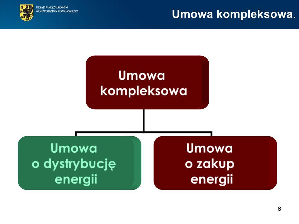 6 Umowa kompleksowa. Umowa kompleksowa Umowa o dystrybucję energii Umowa o zakup energii