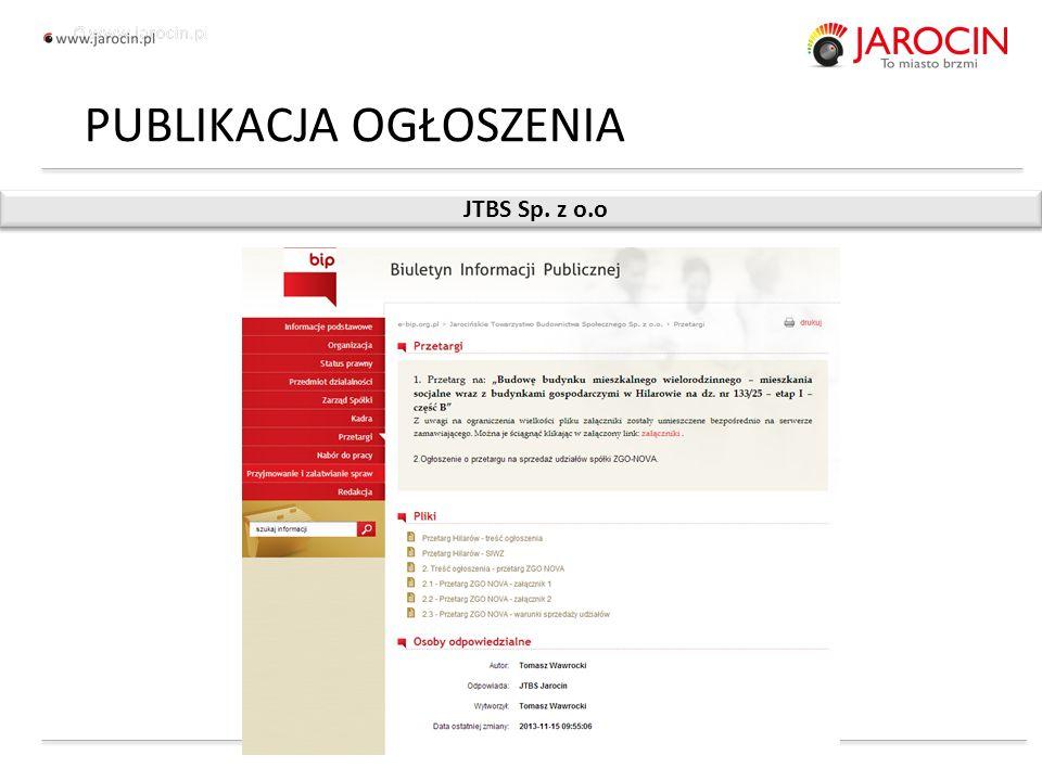 10.10.2020_jarocin JTBS Sp. z o.o PUBLIKACJA OGŁOSZENIA