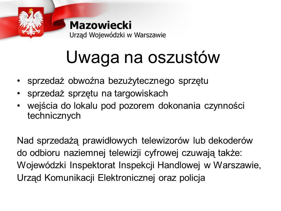 Kiedy cyfryzacja na Mazowszu.Telewizja analogowa wyłączana będzie w 2013 roku etapami tj.