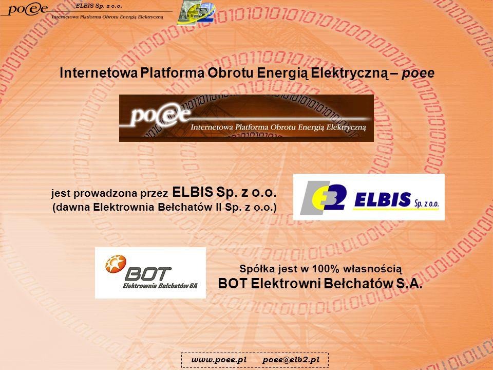 jest prowadzona przez ELBIS Sp. z o.o. (dawna Elektrownia Bełchatów II Sp. z o.o.) Spółka jest w 100% własnością BOT Elektrowni Bełchatów S.A. Interne