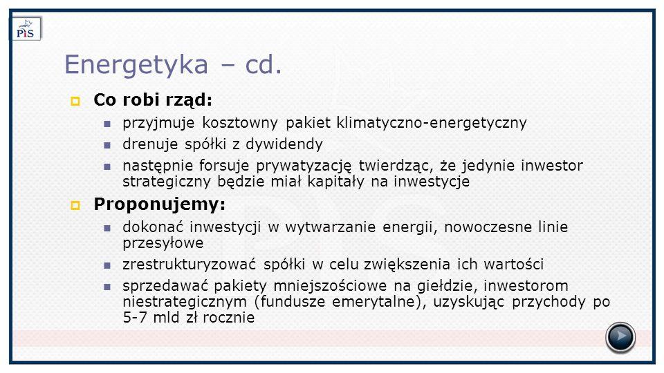 Energetyka – cd.