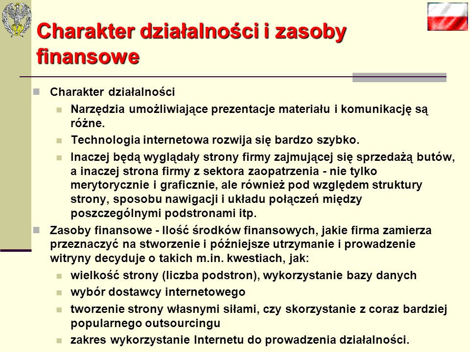 3 kategorie istnienia firmy w Sieci Witryna będąca wyłącznie wizytówką firmy. Witryna dynamiczna, stale aktualizowana, wpisana i będąca częścią kampan