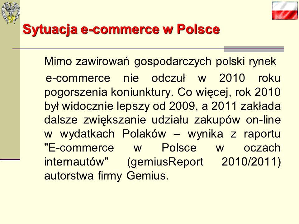 Sytuacja e-commerce w Polsce Mimo zawirowań gospodarczych polski rynek e-commerce nie odczuł w 2010 roku pogorszenia koniunktury.