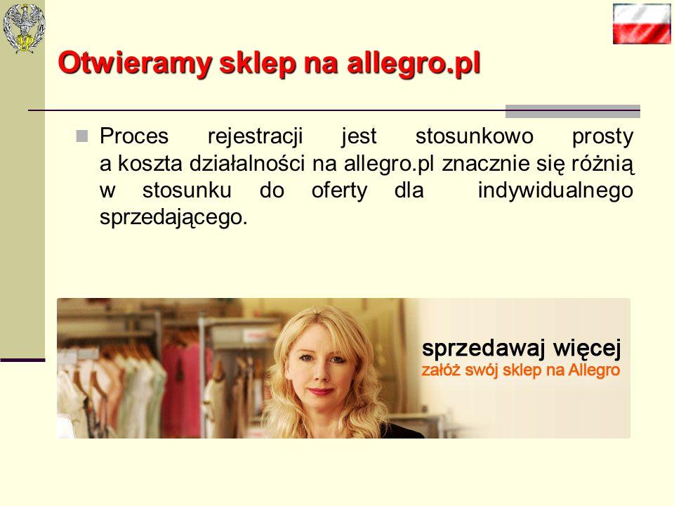 Otwieramy sklep na allegro.pl Po burzliwych obradach i mnóstwie argumentów stwierdziliśmy, że najlepszym rozwiązaniem dla początkującego sklepu intern