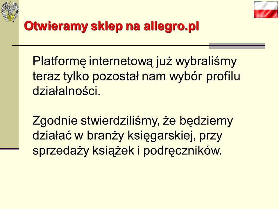 Otwieramy sklep na allegro.pl Kolejnym bardzo pomocnym narzędziem jest WebAPI. Jest to usługa sieciowa, która umożliwia wymianę informacji między zaso