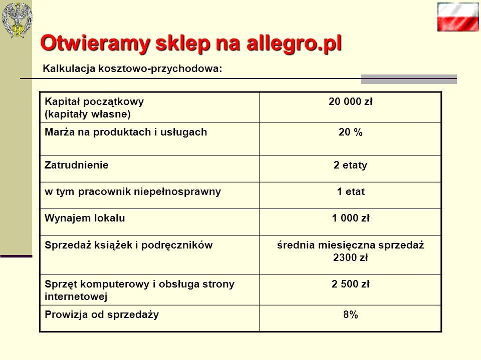 Otwieramy sklep na allegro.pl Platformę internetową już wybraliśmy teraz tylko pozostał nam wybór profilu działalności. Zgodnie stwierdziliśmy, że będ