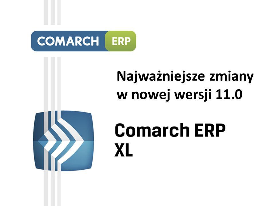 Nowa platforma analityczna Comarch ERP XL BI Start Uproszczona wersja modułu analitycznego BI oparta o technologię in-memory 8 raportów wzorcowych oraz ponad 43 raporty standardowe Szerokie opcje tworzenia i manipulacji raportami oraz ich prezentacji na ponad 40 rodzajach wykresów Zarządzanie uprawnieniami do uruchamiania raportów, obsługa zarówno kont domenowych, jak i loginów SQL, organizacja raportów w folderach Możliwość tworzenia subskrypcji wysyłających wiadomości e-mail z raportami do wybranych użytkowników na podstawie harmonogramu Wygląd modułu Comarch ERP XL BI Start