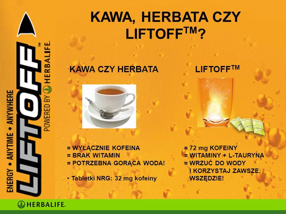 KAWA, HERBATA CZY LIFTOFF TM .
