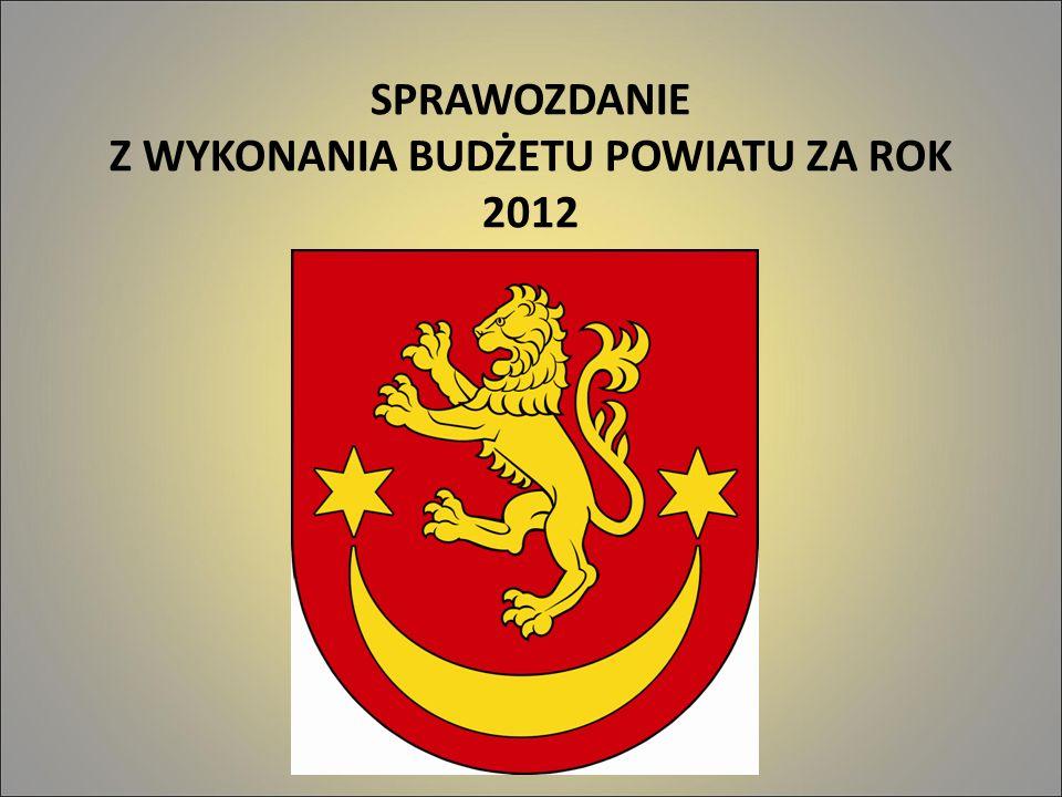 SPRAWOZDANIE Z WYKONANIA BUDŻETU POWIATU ZA ROK 2012