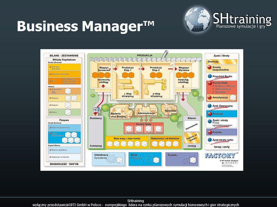 Business Manager SHtraining wyłączny przedstawiciel BTI GmbH w Polsce - europejskiego lidera na rynku planszowych symulacji biznesowych i gier strateg