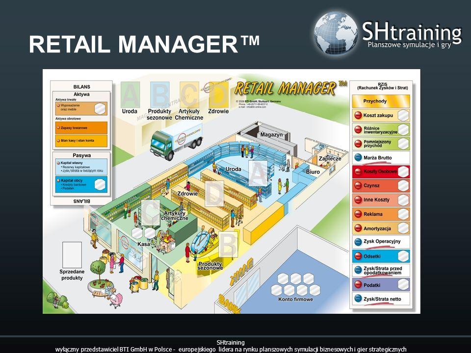 RETAIL MANAGER SHtraining wyłączny przedstawiciel BTI GmbH w Polsce - europejskiego lidera na rynku planszowych symulacji biznesowych i gier strategic