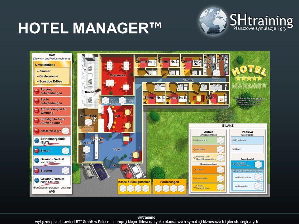 HOTEL MANAGER SHtraining wyłączny przedstawiciel BTI GmbH w Polsce - europejskiego lidera na rynku planszowych symulacji biznesowych i gier strategicz
