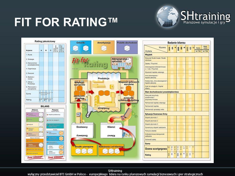 FIT FOR RATING SHtraining wyłączny przedstawiciel BTI GmbH w Polsce - europejskiego lidera na rynku planszowych symulacji biznesowych i gier strategic