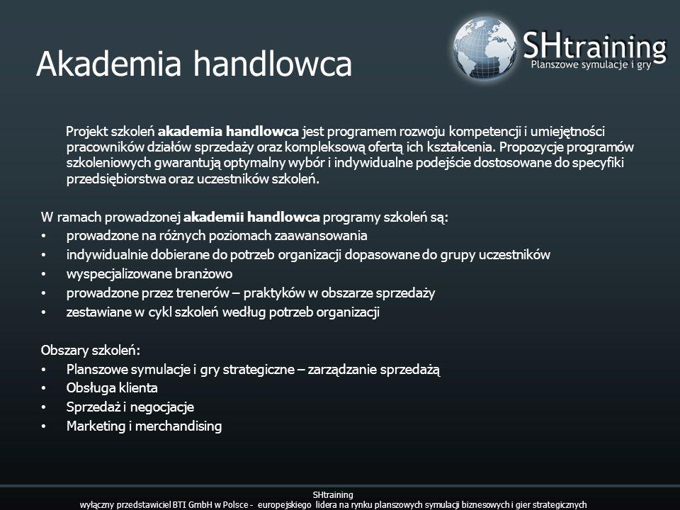 Akademia handlowca SHtraining wyłączny przedstawiciel BTI GmbH w Polsce - europejskiego lidera na rynku planszowych symulacji biznesowych i gier strat
