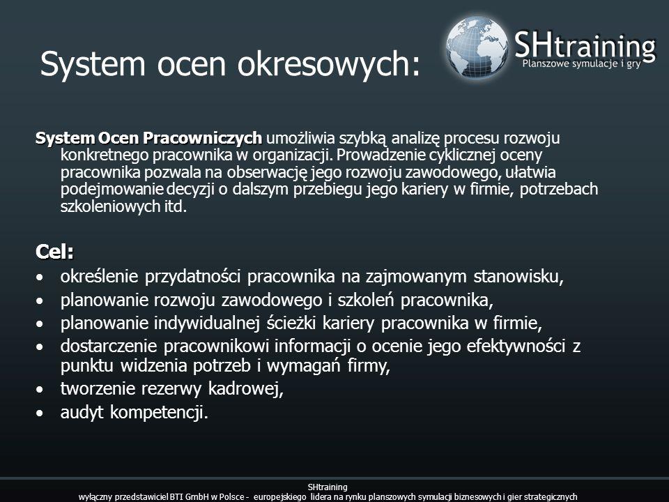 System ocen okresowych: System Ocen Pracowniczych System Ocen Pracowniczych umożliwia szybką analizę procesu rozwoju konkretnego pracownika w organiza