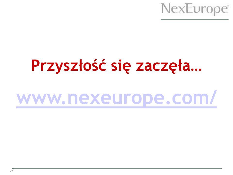 26 www.nexeurope.com/ Przyszłość się zaczęła…