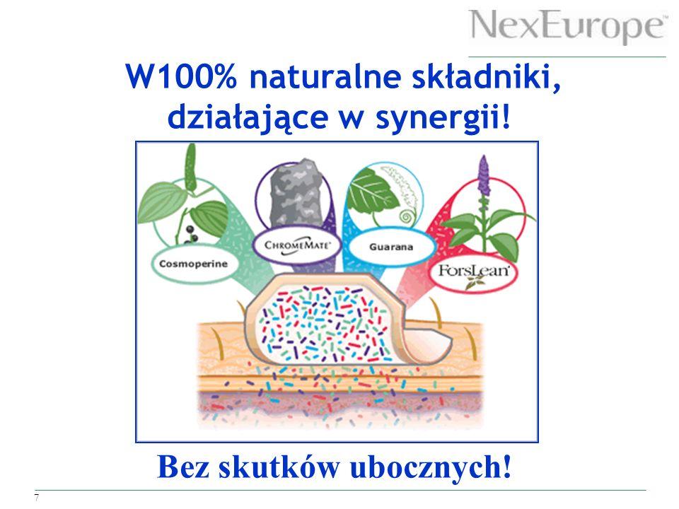 7 W100% naturalne składniki, działające w synergii! Bez skutków ubocznych!