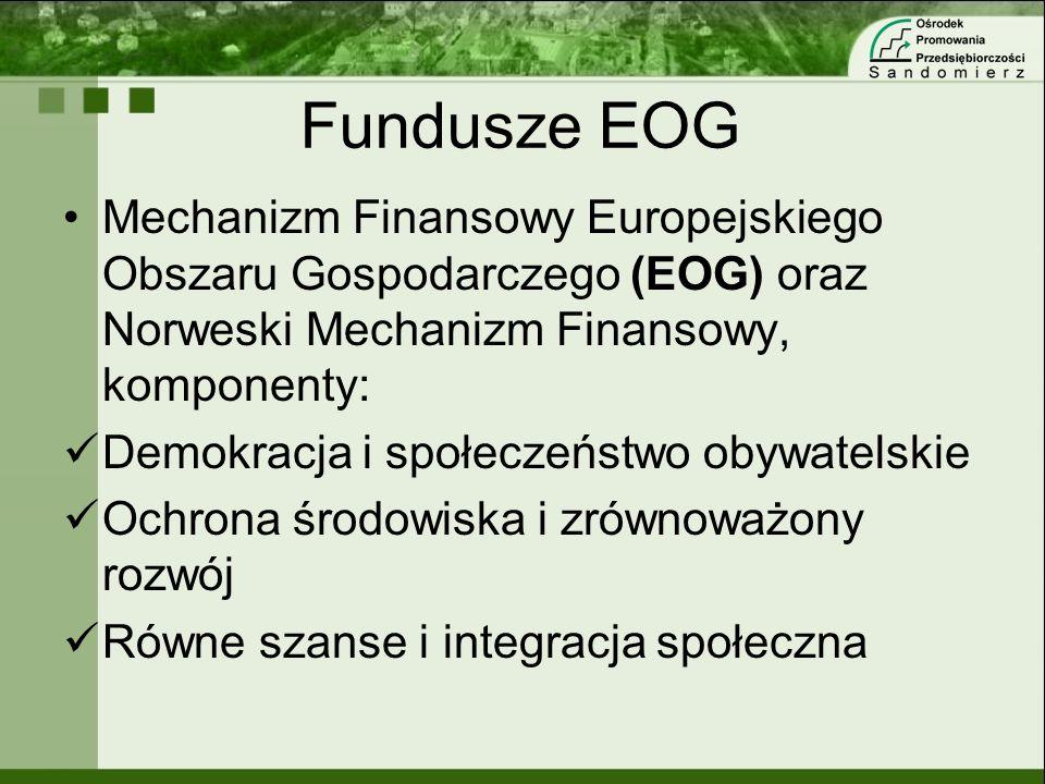 Fundusze EOG Mechanizm Finansowy Europejskiego Obszaru Gospodarczego (EOG) oraz Norweski Mechanizm Finansowy, komponenty: Demokracja i społeczeństwo o