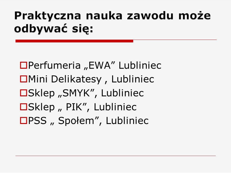 Perfumeria EWA Lubliniec Mini Delikatesy, Lubliniec Sklep SMYK, Lubliniec Sklep PIK, Lubliniec PSS Społem, Lubliniec