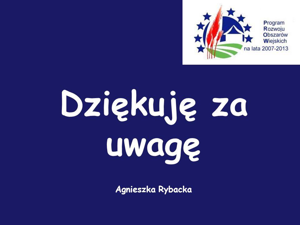 Dziękuję za uwagę Agnieszka Rybacka