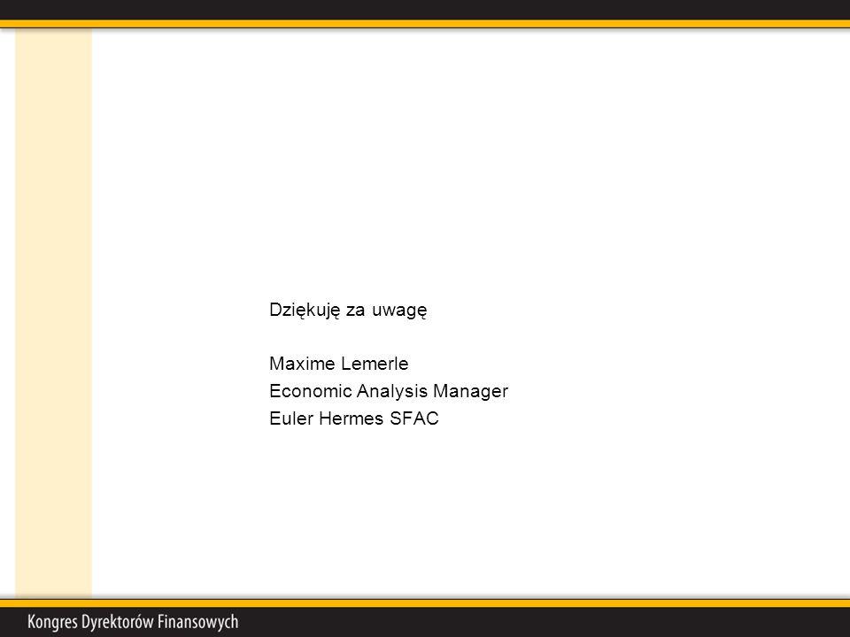 Dziękuję za uwagę Maxime Lemerle Economic Analysis Manager Euler Hermes SFAC