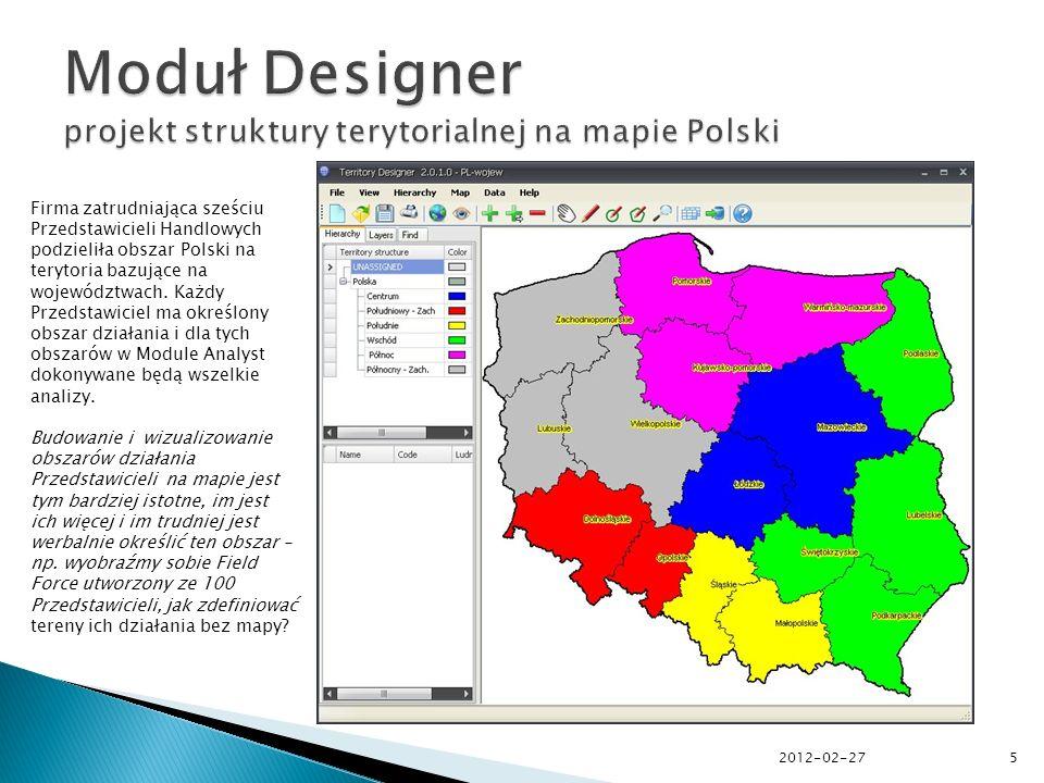 5 Firma zatrudniająca sześciu Przedstawicieli Handlowych podzieliła obszar Polski na terytoria bazujące na województwach.