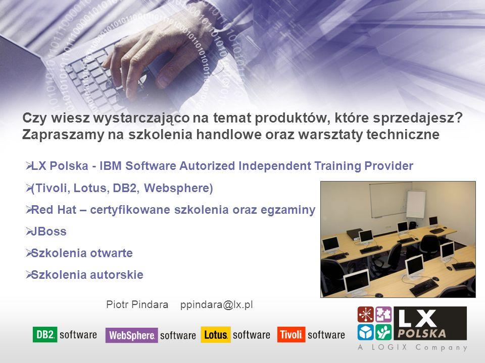 Czy wiesz wystarczająco na temat produktów, które sprzedajesz ? Zapraszamy na szkolenia handlowe oraz warsztaty techniczne Piotr Pindara ppindara@lx.p
