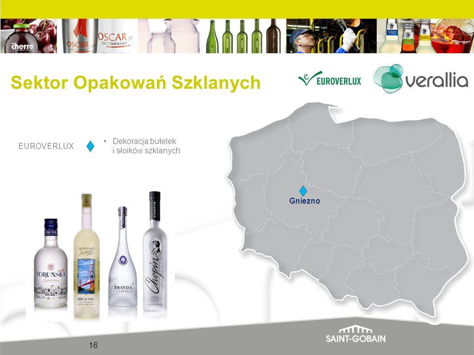 16 Gniezno EUROVERLUX Dekoracja butelek i słoików szklanych Sektor Opakowań Szklanych