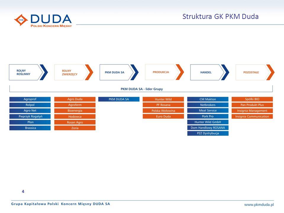 Działania Obszar 25 Optymalizacja procesów zakupowych w skali całej Grupy oraz uruchomienie procedur przetargowych dla kolejnych kategorii zakupowych zgodnie z harmonogramem: 1.dział utrzymania ruchu na produkcji 2.części samochodowe oraz inne materiały związane z utrzymaniem floty samochodowej Zaakceptowana koncepcja magazynu centralnego dla zakładu produkcyjnego w Grąbkowie, główne zalety: 1.centralna gospodarka magazynowa 2.obniżenie kosztów magazynowania oraz większa płynność materiałów Utrzymanie/redukcja zatrudnienia Redukcja kosztów około osobowych Stopniowe zwiększenie outsourcingu pracowników.