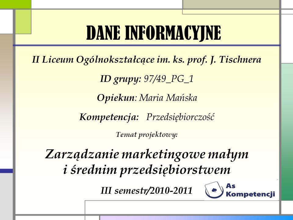 DANE INFORMACYJNE II Liceum Ogólnokształcące im.ks.