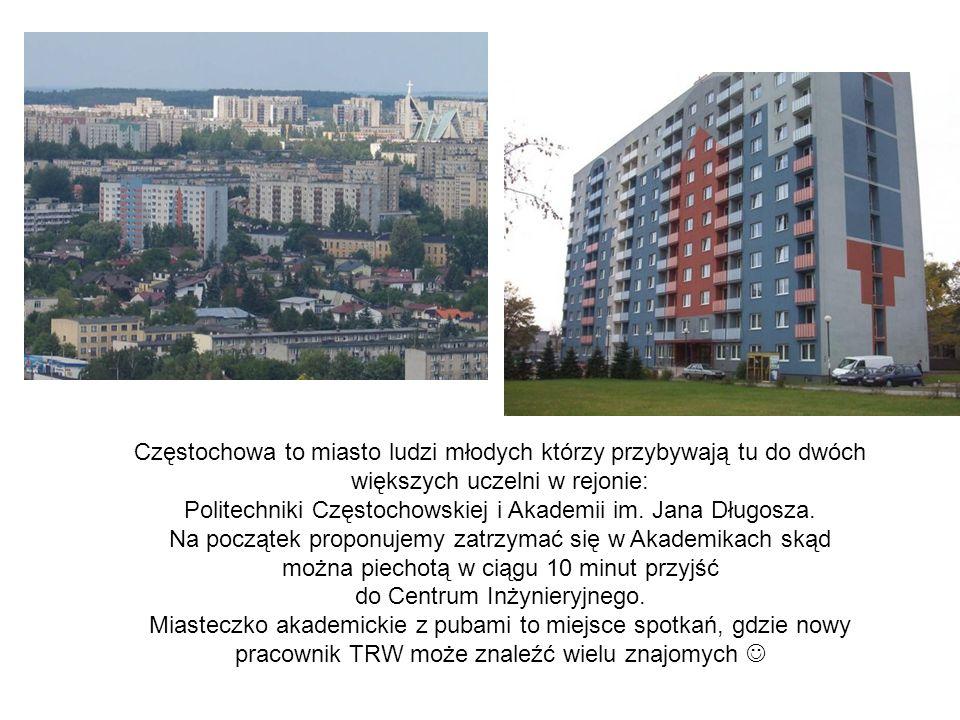 Częstochowa to miasto ludzi młodych którzy przybywają tu do dwóch większych uczelni w rejonie: Politechniki Częstochowskiej i Akademii im. Jana Długos