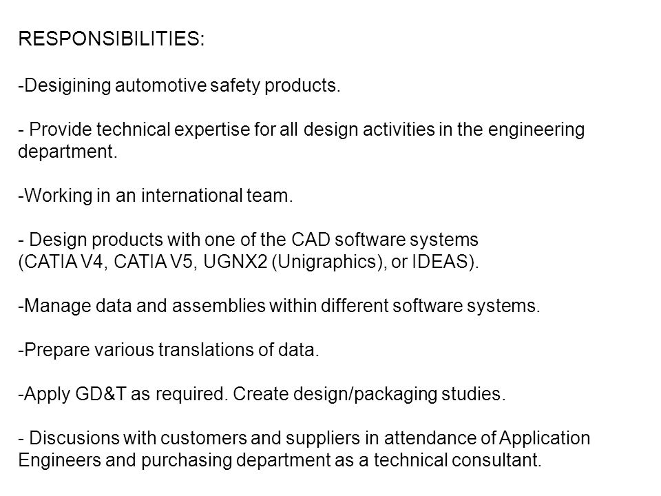 Modeling and Simulation Position REQUIREMENTS: degree in mechanical, aerospace or relevant engineering; solid technical background especially in the field of Strength of materials; good at exact sciences esp.