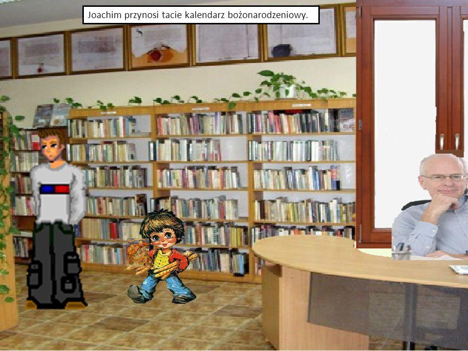 Joachim otworzył pierwsze okienko.Patrzył na obrazek przedstawiający sklep z zabawkami.