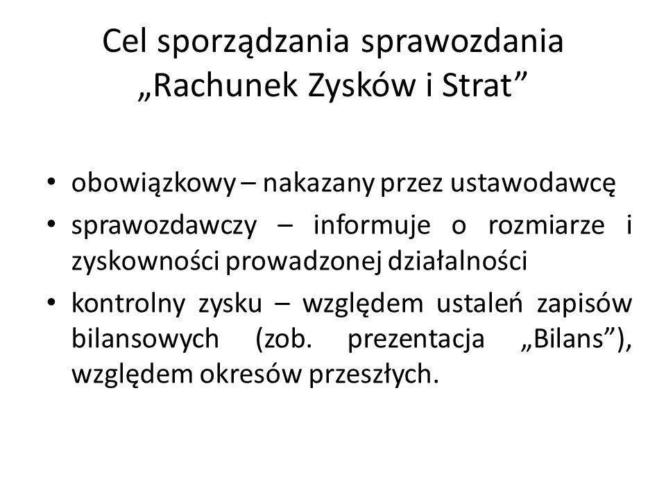 Struktura sprawozdania - zestandaryzowana - objęta dyrektywami Unii Europejskiej - zapewnia to porównywalność polskiej sprawozdawczości względem sprawozdawczości światowej