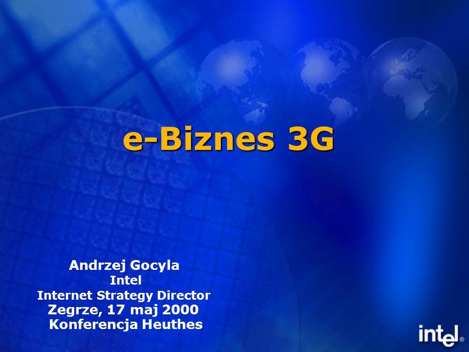 e-Biznes 3G Andrzej Gocyla Intel Internet Strategy Director Zegrze, 17 maj 2000 Konferencja Heuthes
