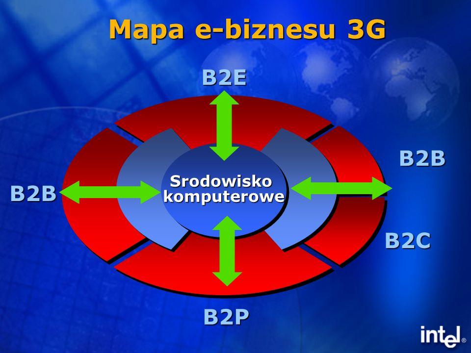 B2E B2P B2B B2B B2C SrodowiskokomputeroweSrodowiskokomputerowe Mapa e-biznesu 3G