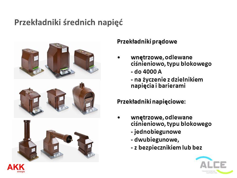 Przekładniki średnich napięć Przekładniki prądowe wnętrzowewnętrzowe, odlewane ciśnieniowo, typu blokowego - do 4000 A - na życzenie z dzielnikiem nap