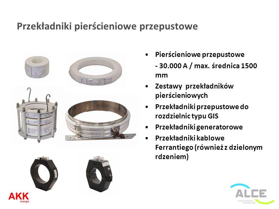 Przekładniki pierścieniowe przepustowe Pierścieniowe przepustowe - 30.000 A / max. średnica 1500 mm Zestawy przekładników pierścieniowych Przekładniki